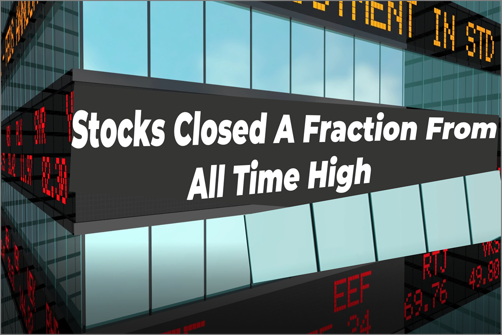 Jobs Situation Report Pushes Stocks A Fraction From All Time High
