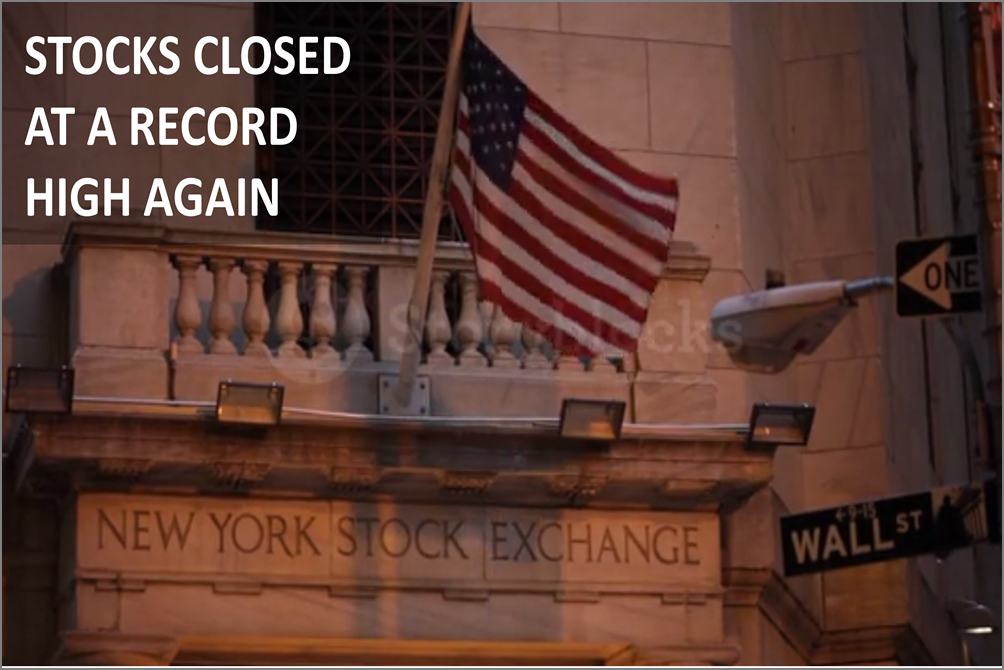 Stocks Surged 1.1% Today, Closing At A Record High For The Third Straight Week